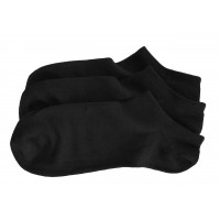 Men Seamless Bamboo Invisible Socks 3 Pack - Black