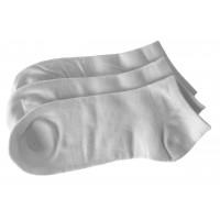 Men Seamless Bamboo Ankle Socks 3 Pack - White