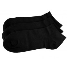 Men Seamless Bamboo Ankle Socks 3 Pack - Black