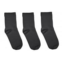 3 Pack Bamboo School Socks Charcoal Gray