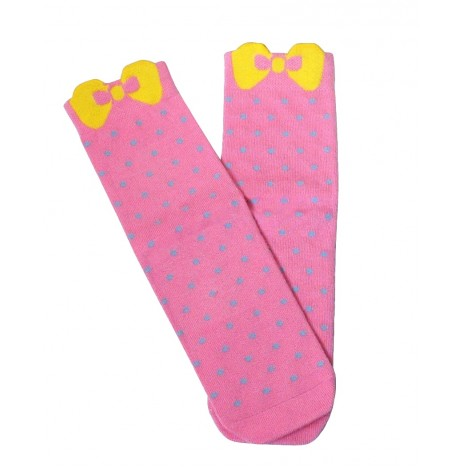 Girls Bow Pink Bamboo