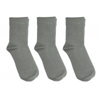 3 Pack Bamboo School Socks Gray